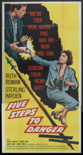 "Movie Posters:Adventure, Five Steps to Danger (United Artists, 1957). Three Sheet (41"" X81""). Adventure...."