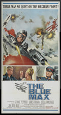 "Movie Posters:War, The Blue Max (20th Century Fox, 1966). Three Sheet (41"" X 81"").War...."