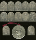 Judaica, Set of 12 Chagall Windows Silver Art Pieces and a Medal.... (Total:13 medals)