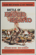 """Movie Posters:War, Battle of Blood Island (Filmgroup, Inc., 1960). One Sheet (27"""" X41"""") and Lobby Card Set of 8 (11"""" X 14""""). War.... (Total: 9 Items)"""