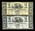 Obsoletes By State:Louisiana, New Orleans, LA- Bank of Louisiana $1 (2) Sept. 19, 1861 G2, G2a. ... (Total: 2 notes)
