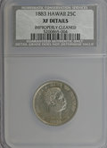 Coins of Hawaii: , 1883 25C Hawaii Quarter--Improperly Cleaned--NCS. XF Details. NGCCensus: (5/739). PCGS Population (31/1300). Mintage: 500,...