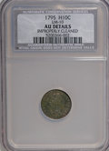 Early Half Dimes, 1795 H10C --Improperly Cleaned--NCS. AU50 Details....
