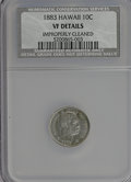 Coins of Hawaii: , 1883 10C Hawaii Ten Cents--Improperly Cleaned--NCS. VF Details. NGCCensus: (2/266). PCGS Population (22/421). Mintage: 250...