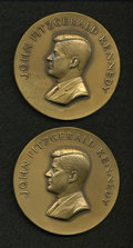 U.S. Presidents & Statesmen, Pair of John F. Kennedy Inaugural and Memorial Medals.... (Total: 2medals)