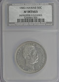 Coins of Hawaii: , 1883 50C Hawaii Half Dollar--Improperly Cleaned--NCS. XF Details.NGC Census: (18/262). PCGS Population (39/380). Mintage: ...