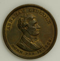 "U.S. Presidents & Statesmen, 1860 Lincoln ""No More Slave Territory"" Medal...."