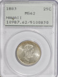 Coins of Hawaii: , 1883 25C Hawaii Quarter MS62 PCGS. PCGS Population (157/766). NGCCensus: (87/489). Mintage: 500,000. (#10987)...