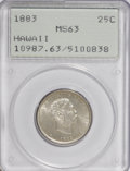 Coins of Hawaii: , 1883 25C Hawaii Quarter MS63 PCGS. PCGS Population (248/518). NGCCensus: (126/363). Mintage: 500,000. (#10987)...