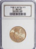 Indian Eagles, 1908-D $10 Motto MS60 NGC....