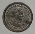 U.S. Presidents & Statesmen, Pair of 1860 Lincoln Medalets, King-43.... (Total: 2 pieces)