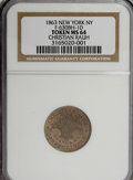 Civil War Merchants, Christian Rauh Civil War Token, MS64 NGC....