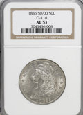 Bust Half Dollars, 1836 50C 50 Over 00 AU53 NGC. O-116. NGC Census: (6/34). PCGSPopulation (6/17). Numismedia Wsl. Price for NGC/PCGS coin i...