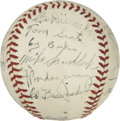 Autographs:Baseballs, 1945 Brooklyn Dodgers Team Signed Baseball....