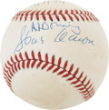 Autographs:Baseballs, Hank Aaron and Al Downing Dual-Signed Baseball....