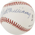 Autographs:Baseballs, Ted Williams and Bill Terry .400 Hitters Dual-Signed Baseball....