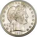 Barber Half Dollars, 1910 50C MS66 PCGS....