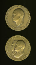 U.S. Presidents & Statesmen, Pair of Eisenhower Inaugural Bronze Medals.... (Total: 2 medals)