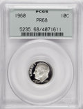 Proof Roosevelt Dimes: , 1960 10C PR68 PCGS. PCGS Population (143/66). NGC Census: (340/98).Mintage: 1,691,602. Numismedia Wsl. Price for NGC/PCGS ...