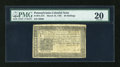 Colonial Notes:Pennsylvania, Pennsylvania March 16, 1785 20s PMG Very Fine 20....