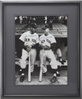 Autographs:Photos, Joe DiMaggio And Mickey Mantle Dual-Signed Photograph...
