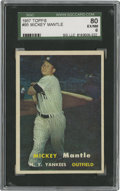 Baseball Cards:Singles (1950-1959), 1957 Topps Mickey Mantle #95 SGC 80 EX/NM 6....
