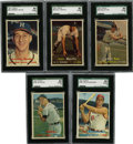 Baseball Cards:Lots, 1957 Topps Baseball SGC 80 EX/NM 6 Group Lot of 5.... (Total: 5cards)