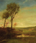 Fine Art - Painting, American:Antique  (Pre 1900), WILLIAM M. HART (American, 1823-1894). Grazing Cattle. Oilon canvas. 24-1/4 x 20-1/4 inches (61.6 x 51.4 cm). Signed lo...