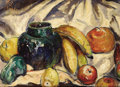 Fine Art - Painting, American:Modern  (1900 1949), HENRY GEORGE KELLER (American, 1870-1949). Still Life withFruit, 1917. Oil on canvas. 14 x 19 inches (35.6 x 48.3 cm)....