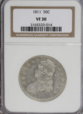 Bust Half Dollars: , 1811 50C Large 8 VF30 NGC. NGC Census: (14/493). PCGS Population(5/288). Mintage: 1,203,644. Numismedia Wsl. Price for NGC...