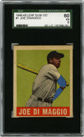 Baseball Cards:Singles (1940-1949), 1948-49 Leaf Joe DiMaggio #1 SGC 60 EX 5....