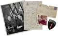 Autographs:U.S. Presidents, [Dwight Eisenhower] Patch from Dwight Eisenhower's Uniform withPhotographs and Letter from Mamie Eisenhower.... (Total: 5 Items)