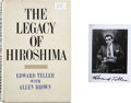 Autographs:Inventors, Edward Teller Signed Copy of The Legacy of Hiroshima, withSigned Photo.... (Total: 2 Items)