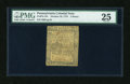 Colonial Notes:Pennsylvania, Pennsylvania October 25, 1775 3d PMG Very Fine 25....