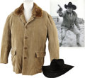 Movie/TV Memorabilia:Costumes, Glenn Ford's Corduroy Coat and Hat from Santee.... (Total: 2Items)
