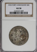 Commemorative Silver: , 1925 50C Vancouver AU58 NGC. NGC Census: (28/1944). PCGS Population(66/2786). Mintage: 14,994. Numismedia Wsl. Price for N...