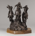 Sculpture, MELVIN CHARLES WARREN (American, 1920-1995). Untitled (On the War Path), 1971. Bronze with patina. 18 x 25 x 14 inches (... (Total: 1 Item Items)