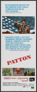 "Movie Posters:Academy Award Winner, Patton (20th Century Fox, 1970). Insert (14"" X 36""). Academy Award Winner...."