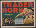 "Movie Posters:Adventure, Trader Horn (MGM, 1931). Title Lobby Card (11"" X 14"").Adventure...."