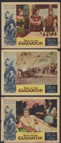 "Movie Posters:Adventure, Sign of the Gladiator (American International, 1959). Lobby Cards(3) (11"" X 14""). Adventure.... (Total: 3 Items)"