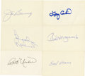 Autographs:Index Cards, Vintage Baseball Stars Signed Index Cards Lot of 6.... (Total: 6 items)