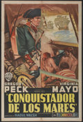 "Movie Posters:Adventure, Captain Horatio Hornblower (Warner Brothers, 1951). ArgentineanPoster (29"" X 43""). Adventure...."