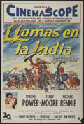 "Movie Posters:Adventure, King of the Khyber Rifles (20th Century Fox, 1954). ArgentineanPoster (29"" X 43""). Adventure...."