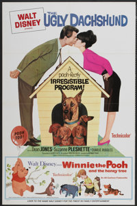 """The Ugly Dachshund/Winnie The Pooh Combo (Buena Vista, 1966). One Sheet (27"""" X 41""""). Family"""