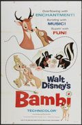 "Movie Posters:Animated, Bambi (Buena Vista, R-1966). One Sheet (27"" X 41"") Style A. Animated...."