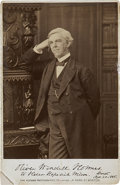Autographs:Authors, Oliver Wendell Holmes Cabinet Card Signed,...