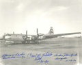 Autographs:Military Figures, Enola Gay Crew Photograph Signed,...
