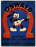 Memorabilia:Comic-Related, Oswald the Lucky Rabbit - A Story, Drawing & Song Book forHappy-Go-Lucky Children (Universal Music Co., 1930)....