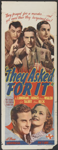"""Movie Posters:Comedy, They Asked for It (Universal, 1939). Pre-War Australian Daybill(15"""" X 39""""). Comedy...."""