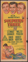 "Movie Posters:Adventure, Soldiers Three (MGM, 1951). Australian Daybill (13"" X 30"").Adventure...."